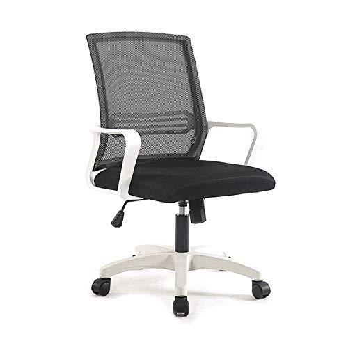 Bdesign Silla de Escritorio de la Silla de la Oficina de la Oficina Silla de la computadora de la Malla con el Respaldo Que se Puede inclinar 120 ° sillón de Tarea Ajustable de 120 ° (Color : Black)