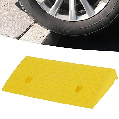 Rampa de acera, rampa de pendiente Resistente, ligera y flexible para aceras Garajes domésticos, muelles de carga(amarillo)
