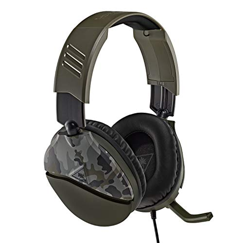 Turtle Beach Recon 70 Green Camo Gaming Headset for Xbox One & Xbox Series X|S, PlayStation 5, PS4 Pro & PS4, Nintendo Switch, and Mobile