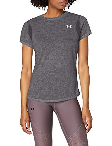Under Armour Damen Streaker 2.0 Heather T-Shirt Grau, Silber, S