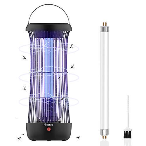 Osaloe Elektrisch Insektenvernichter, 11W Tragbarer UV-LED-Mückenvernichter, Elektrischer Mückenfalle mit Stecker für Heim, Büro, Schlafsaal, Innen und Außen