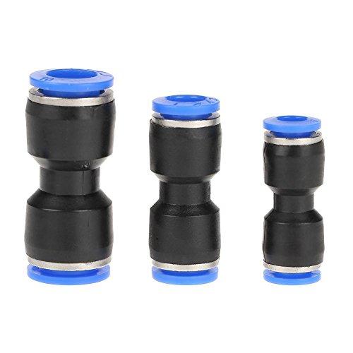30pcs Guarniciones neumaticas 10mm 8mm 6mm, Conectores a presión de ajuste recto, Conectores de empuje recto, Conectores neumáticos de aire