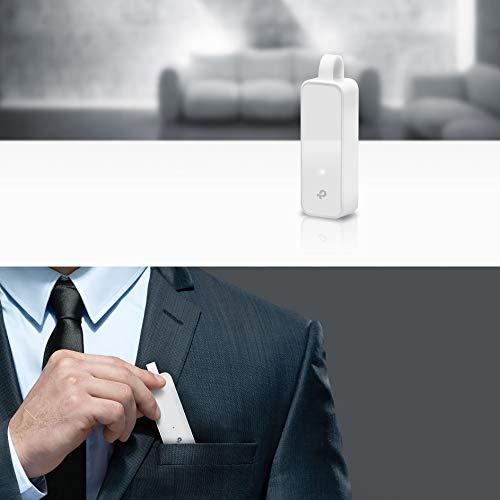 Tp-Link UE300 -USB 3.0 Ein Gigabit-Ethernet-10/100/1000-Adapter, PC oder Laptops, weiß