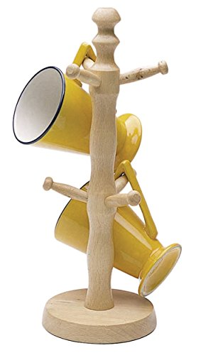 Kitchen Craft KCMTREE - Soporte de madera de roble para tazas (6 ganchos)