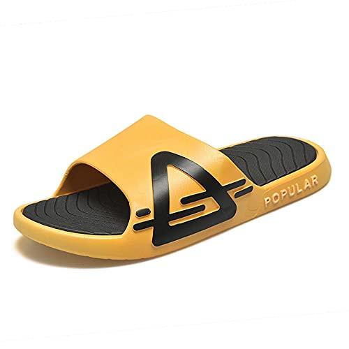Yumanluo Chanclas Hombre Sandalias de Dedo Planas Flip Flops Playa Piscina Verano Zapatos de Playa Antideslizante para Adulto Men