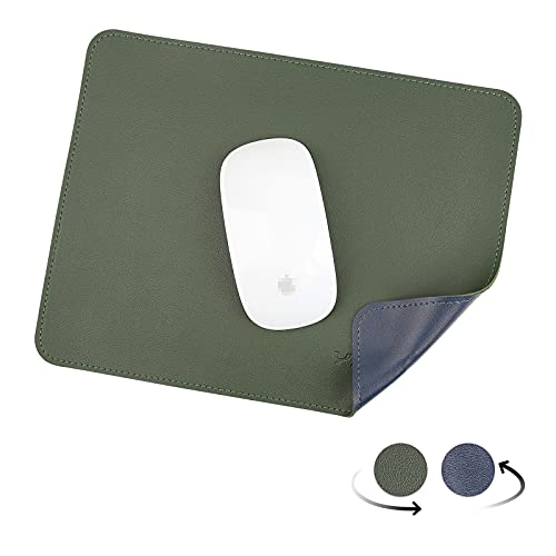 YXLILI Mouse Pad, Dual-Sided PU Leather Mouse Mat, Waterproof Ultra Smooth Mousepads with Stitched Edge Computer Mouse Pads for Office Home Gaming Work Study