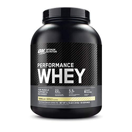 Optimum Nutrition Performance Whey Protein Powder, Whey Protein Concentrate, Whey Protein Isolate, Hydrolyzed Whey Protein Isolate, Flavor: Vanilla, 50 Servings