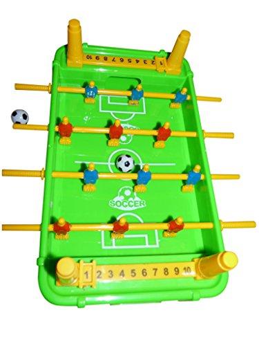Seruna A140F Kinder-Spielzeug 5in1 Set, Tischfussball-Kicker Basket-Ball Golf EIS-Hockey Billard Geschenk-Idee Junge u. Mädchen Weihnacht-en Geburtstags-Geschenk