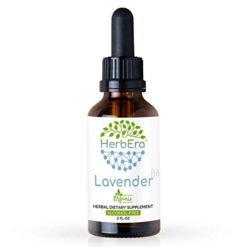 Lavender B60 Alcohol-Free Herbal Extract Tincture, Super-Concentrated Organic Lavender (Lavandula X Intermedia) 2 fl oz
