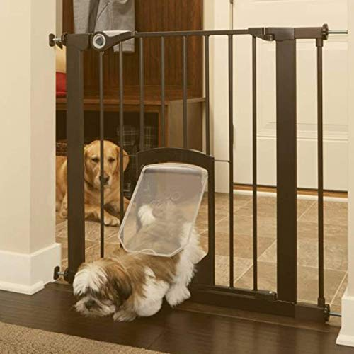North States MyPet 38' Wide Pet Gate Passage: Secure gate with small lockable doggy...