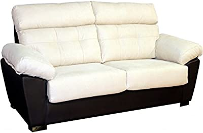 ECO-DE Sofa 3 plazas beige con masaje , reclinable ...