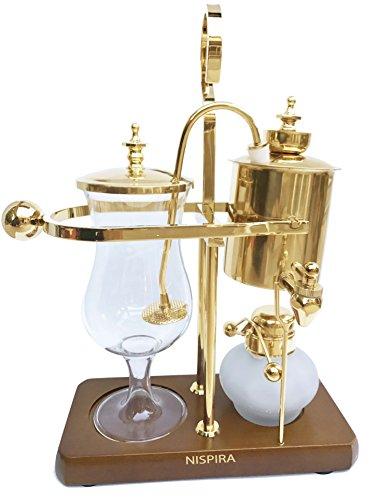 Nispira Belgian Belgium Luxury Royal Family Balance Syphon Siphon Coffee Maker Gold Color