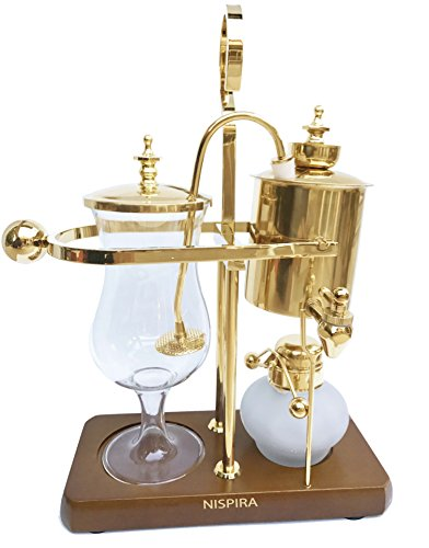 Nispira Belgian Belgium Luxury Royal Family Balance Syphon Siphon Coffee Maker Gold Color