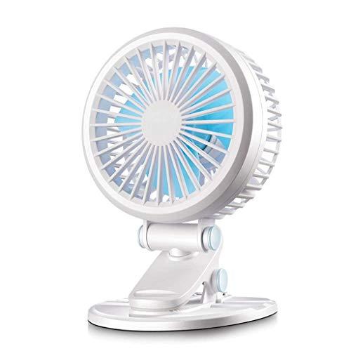 WZHZJ Clip para Ventilador de Escritorio Personal con 2 velocidades, rotación de 360 °, USB Mini portátil para Oficina, hogar, Viaje, Camping, Cochecito de bebé