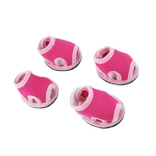 DealMux Sapatos Jardin destacável Encerramento Pet/Sandals, Tamanho 2, Rosa/Magenta, Par de 2