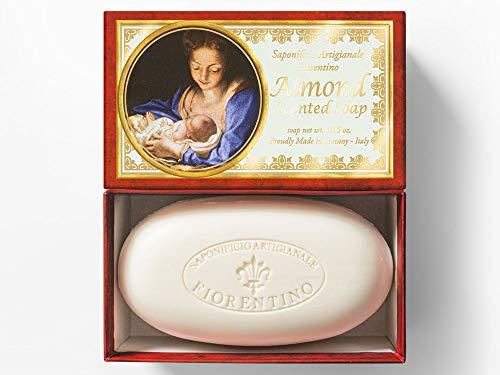 Saponificio Artigianale Fiorentino, Madonna mit Jesus Kind, handgemachte italienische Мandelseife aus Fiorentino, 300g