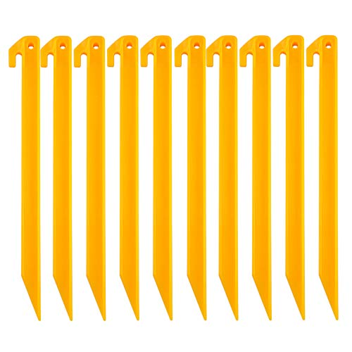 OMUKY Plastic Tent Pegs Durable Spike Hook Awning Camping Caravan Pegs Accessory (11.8'-10Pcs)