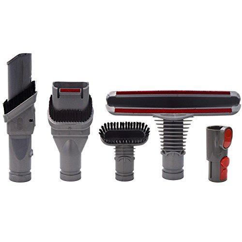 Brosse Kit Accessoires pour Dyson V8 V7 V6 V10 SV10 SV11 Aspirateur avec Adaptateur,Total Clean Pièces pour Dyson V6 DC45 DC35 DC52 DC29 DC62 DC33 DC34(5 in 1)