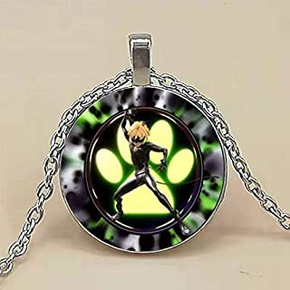 Cartoon Miraculous Ladybug Necklace Cool Black Cat Noir Anime Character Glass Cabochon Necklaces Pendants Kids Jewelry