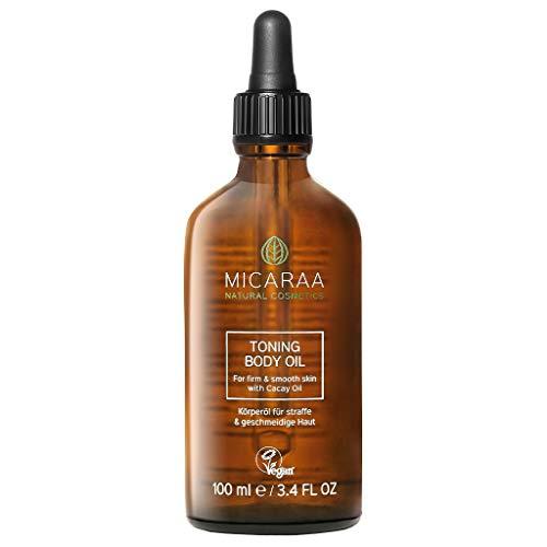 MICARAA Körper-Öl Für Weiche Haut, Vegane Haut-Pflege Mit Bio-Oil & Argan-Öl, Straffendes Haut-Öl, Anti-Aging Beauty Gegen Trockene Haut, Naturkosmetik Deutschland