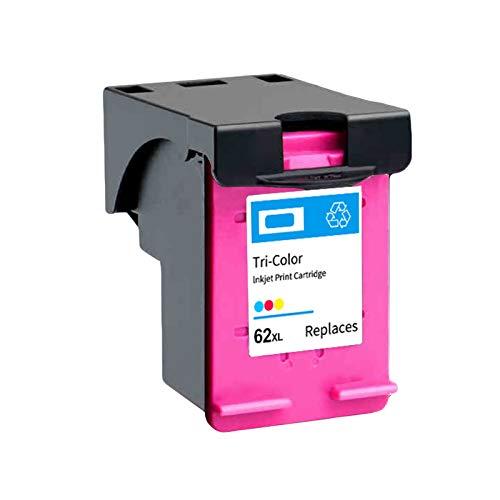 Wiederaufbereitete Tintenpatronen 62XL Schwarz, Ersatz für HP OfficeJet 200 258 5540 5542 5640 Hochleistungs-Tintenstrahldrucker-Patronen, vier Farben