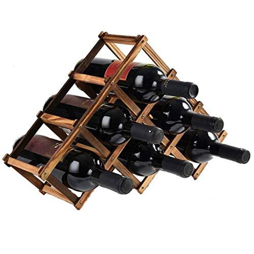 WYB Porte bouteille Casier À Vin En Bois Massif Décoration Casier À Vin En Pin Casier À Vin En Bois Etagère À Vin Créative Présentoir À Bouteille En Bois 12cm * 31cm * 45cm Étagère de rangement