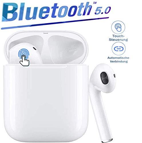 Auricular Bluetooth,Auricular inalámbrico,Deportivos Auriculares,micrófono y Caja de Carga incorporados, reducción del Ruido estéreo 3D HD, para Auriculares Apple Airpods/iPhone Airpods Pro/Android