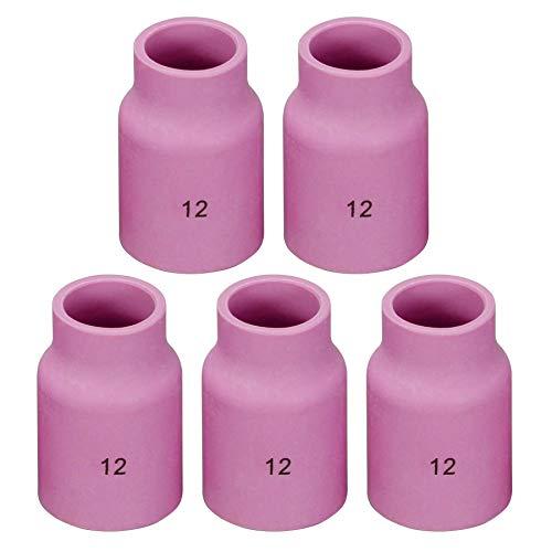 53N87# 12 TIG Alumina Boquilla Gafas de Gas Fit SR DB WP17 18 26 TIG Tobera de Soldadura 5pk