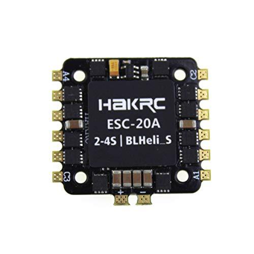 Sylvialuca 20A 4-EN-1 BLHELI_S ESC Mini F3 F4 Tablero Controlador de Vuelo Barómetro Incorporado OSD 20x20mm Soporte sin escobillas 4S para FPV Drone