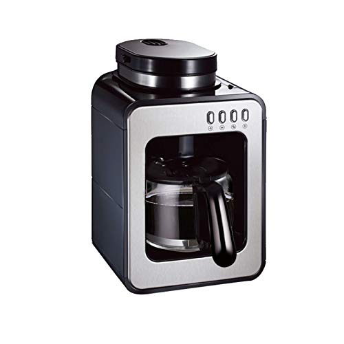 Filter Coffee Machine, Grind and Brew Automatic Coffee Machine with Built-in Burr Coffee Grinder, 580ml Drip Coffee Maker, Reusable Filter for Coffee and Tea