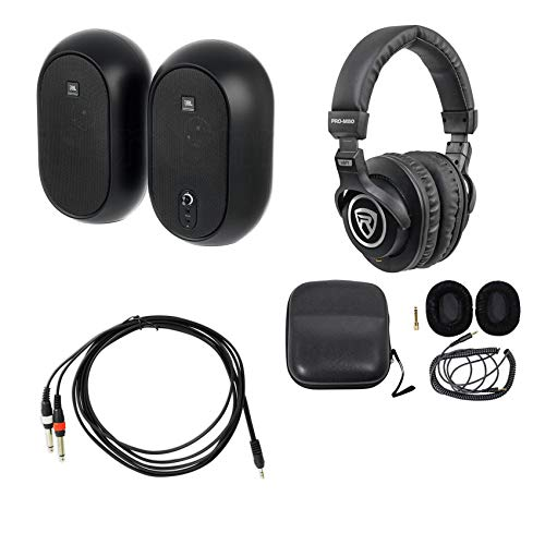 Read About Pair JBL 104 Powered Studio Reference Monitors w/Bluetooth+Headphones 104SET-BT