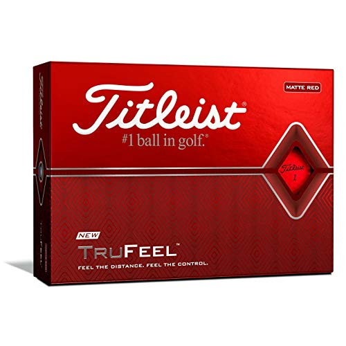 Titleist TruFeel golf Balls, Matte Red, (One Dozen)