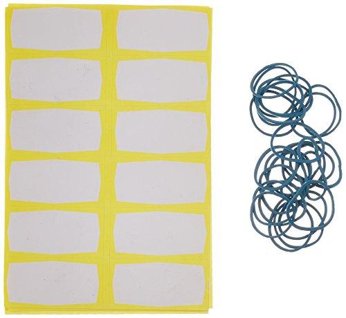 Westmark 40842230 Set de étiquettes et élastiques 48 pièces, Papier/Caoutchouc, Multicolore, 21,5 x 10 x 5 cm