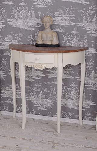 Wandtisch Konsole Landhaus Beistelltisch Konsolentisch Holz altweiss Antikstil HMB10 Palazzo Exklusiv