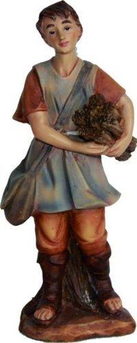 Junge mit Holz, geeignet für 7cm Figuren, hanbemalen