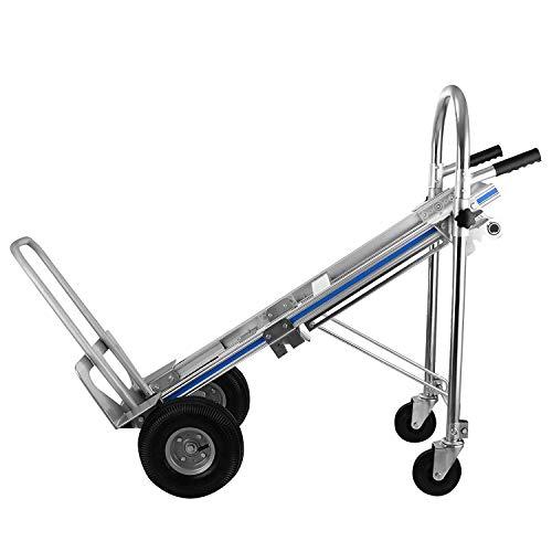 Mophorn 500kg 3 IN 1 Aluminiumklappwagen Handklappwagen mit 2 oder 4 Rädern Handklappwagen Kapazität 500kg