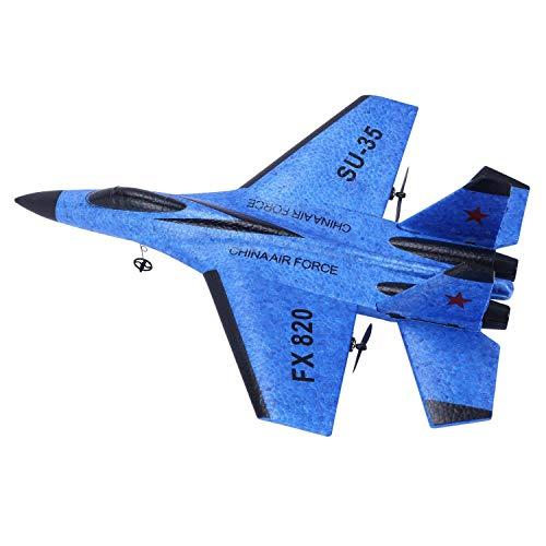 Ellenbogenorthese-LQ RC Accesorios Avión Juguete Epp Craft Espuma Eléctrica Al Aire Libre Rtf Radio Control Remoto Su-35 Cola Pusher Quadcopter Planeador Modelo de Avión para Niño, Azul