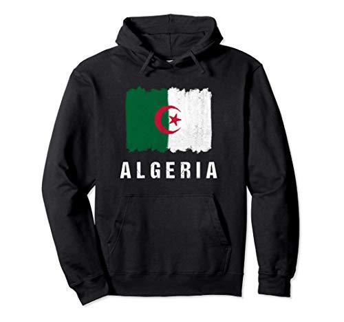 Gemalte Algerien Fahne / Algeria Flagge Fan Geschenk Pullover Hoodie