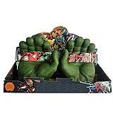 Guantes Gamma, Big Hulk Smash Hands, 1 par de Guantes de Boxeo Suaves de Hulk, Disfraz de PVC de puño para niños y Adultos (Green)