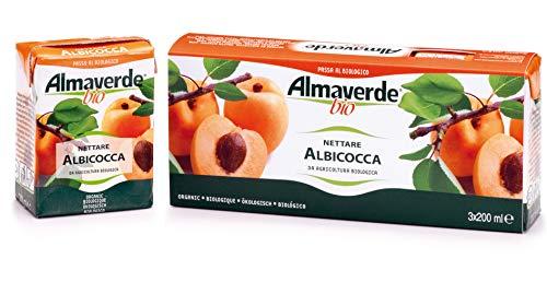 Almaverde Bio succo di frutta nettare all' albicocca 200 ml. Confezione da 9 Brick.