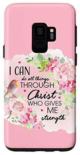 Galaxy S9 Philippians 4:13 Gifts Women Cute Religious Christian Phone Case