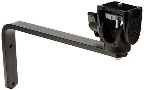 Manfrotto 356 Supporto Alternativo per Montaggio su Parete, Testa Pieghevole, Attacco 1/4''-3/8'', Nero Alluminio