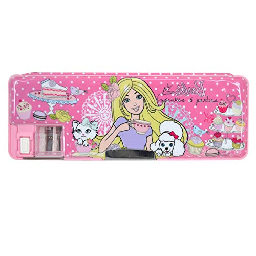 Rebecca Multifunctional Cartoon Pattern Pencil Case Cute Double-Sided Pencil Box for Kids (Pink 01)