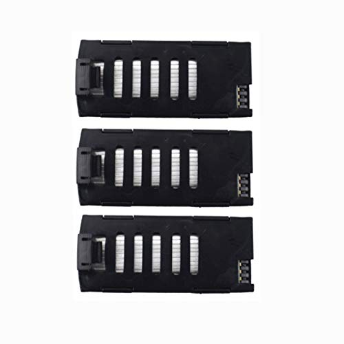 Fytoo 3PCS 3.7V 500mAh Lithium Battery for LF606 JD-16 D2 SG800 S606 M9 M11 X300C Folding Quadcopter Accessories Remote Control Drone Battery