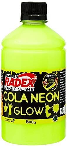 Produto Para Slime Cola Glow Neon Amarela 500gr. - 01 Unidade, Radex, 7304, Multicor