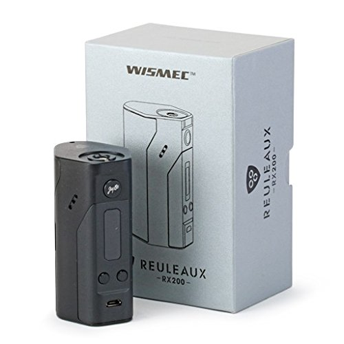 Brushed Sterling Silver Protective Air Release Vinyl Decal Wrap for Wismec Reuleaux RX200 Vape Box Mod by Necro Wraps