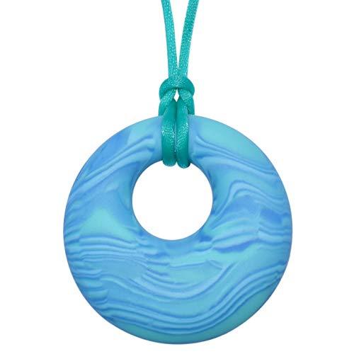 Munchables Scribbles Sensory Chew Necklace for Kids (Aqua)