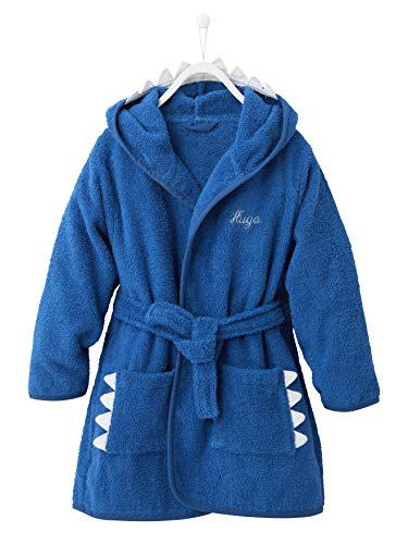 Vertbaudet Kinder Bademantel, Hai-Kostüm blau 140