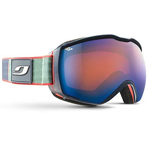 Julbo Airflux Masque de Ski avec Le SuperFlow System Homme, Bleu/Orange/Vert, XL+