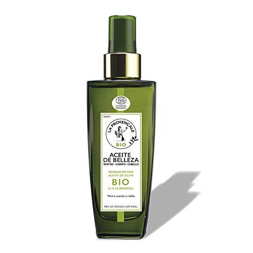 La Provençale Bio, Aceite de Belleza Multiusos con Aceite de Oliva BIO, para Rostro, Cuerpo y Cabello, Nutre y Repara Intensamente la Piel, 100 ml